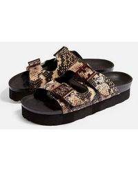 TOPSHOP - Foxie Footbed Sandals - Lyst