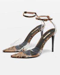 TOPSHOP - Ritchie Clear Strap Sandals - Lyst
