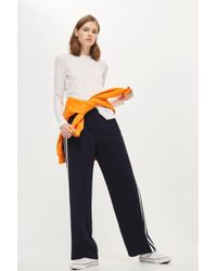 TOPSHOP - Cut And Sew Long Sleeve Top - Lyst
