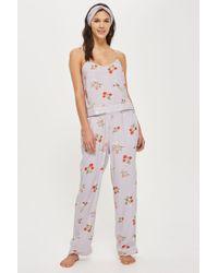 TOPSHOP - Poppy Print Trousers - Lyst