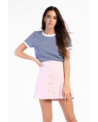 Glamorous - Button Front Corduroy Skirt By - Lyst