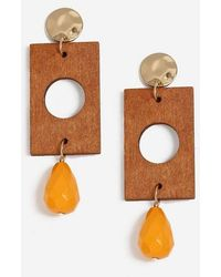 TOPSHOP - Wooden Bead Drop Earrings - Lyst