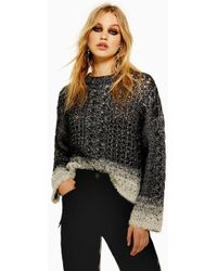 TOPSHOP - Cable Knit Jumper - Lyst