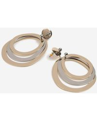 TOPSHOP - Oval Linked Drop Earrings - Lyst