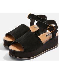 TOPSHOP - Wow Platform Wedge Sandals - Lyst