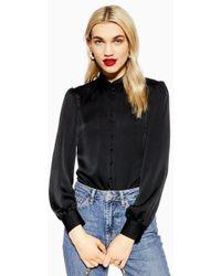 TOPSHOP - Rouleau Button Shirt - Lyst