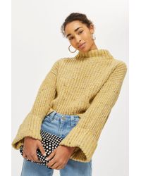TOPSHOP - Neppy Turn Back Jumper - Lyst