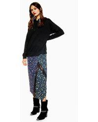 TOPSHOP - Hybrid Print Hoodie Dress - Lyst