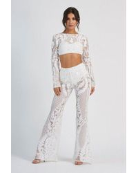 Club L - baroque Geometric Sequin Trousers By - Lyst