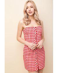 Honey Punch - Strapless Shift Dress By - Lyst