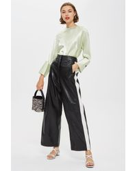 TOPSHOP - Premium Leather Trousers - Lyst