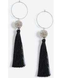 TOPSHOP - Crystal Drop Tassel Earrings - Lyst