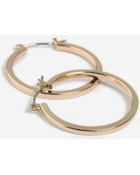 TOPSHOP - Square Edge Hoops - Lyst