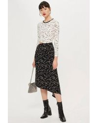 TOPSHOP - Scribble Mix And Match Dress - Lyst
