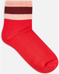 TOPSHOP - Stripe Welt Slinky Socks - Lyst