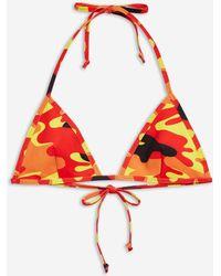 TOPSHOP - Camouflage Print Triangle Bikini Top - Lyst