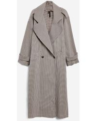 TOPSHOP - Unlined Check Trench Coat By Boutique - Lyst