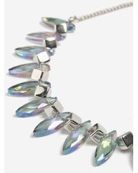TOPSHOP - Mixed Facet Collar Necklace - Lyst