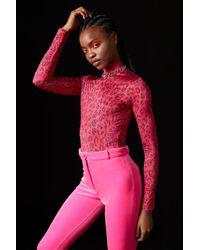 TOPSHOP - Cheetah Bodysuit By X Halpern - Lyst 2619f852d