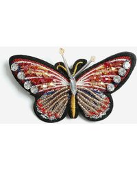 TOPSHOP - Embroidered Butterfly Badge - Lyst