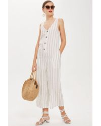 TOPSHOP - Tall Linen All In One - Lyst