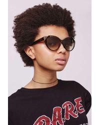 TOPSHOP - Simone Cateye Sunglasses - Lyst