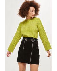 TOPSHOP   Western Suede Mini Skirt   Lyst
