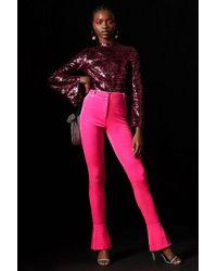 TOPSHOP - velvet Trousers By X Halpern - Lyst