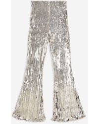 Club L - embellished Kick Flare Trousers By - Lyst