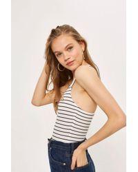 TOPSHOP - Stripe Embroidered Rainbow Bodysuit - Lyst