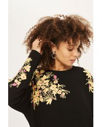 TOPSHOP - Kimono Embroidered Tunic - Lyst