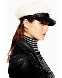 TOPSHOP - Borg Baker Boy Hat - Lyst