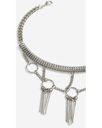 TOPSHOP - Circle And Stick Link Choker Necklace - Lyst