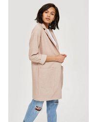 TOPSHOP - Boucle Jersey Coat - Lyst
