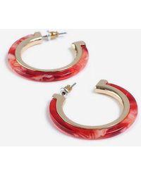 TOPSHOP - Resin Inlay Hoop Earrings - Lyst