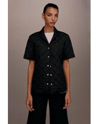 5d86f2b85d TOPSHOP - quilted Pyjama Style Shirt By Boutique - Lyst