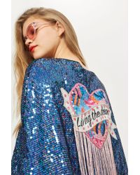 TOPSHOP - 'living The Dream' Cape - Lyst
