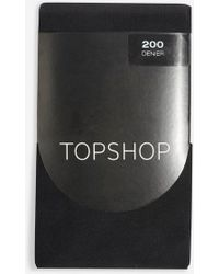 TOPSHOP - 200 Denier Tights - Lyst