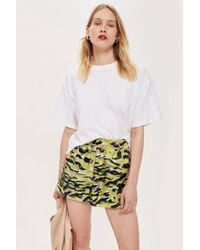 TOPSHOP - Print Silk Runner Shorts By Boutique - Lyst