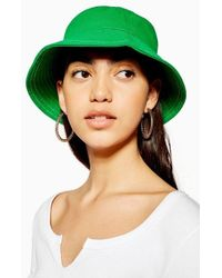 4b3214a2e8d8d TOPSHOP Chunky Corduroy Bucket Hat in Blue - Lyst