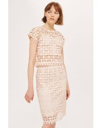 TFNC London - Geometric Lace Skirt By - Lyst