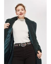 TOPSHOP - Chain Embroidered Floral Belt - Lyst