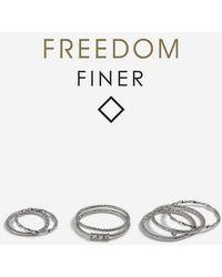 TOPSHOP - freedom Finer Rhinestone Stack Rings - Lyst
