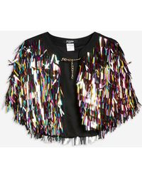 TOPSHOP - Festival Rainbow Sequin Cape By Jaded London - Lyst