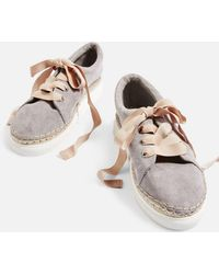 TOPSHOP - Creme Espadrille Trainers - Lyst