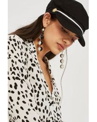 TOPSHOP - Lion Trim Baker Boy Hat - Lyst