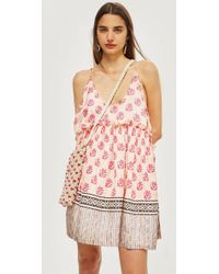 TOPSHOP - Key To Freedom Silk Sundress - Lyst