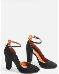 TOPSHOP - Grace Block Court Shoes - Lyst