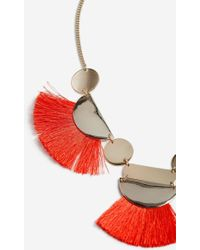 TOPSHOP - Tassel And Shape Collar Necklace - Lyst