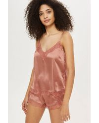 TOPSHOP - Lace Camisole And Shorts Set - Lyst